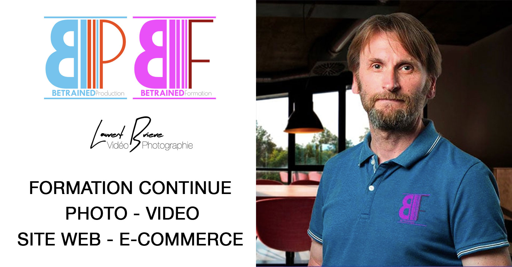 betrained formation photo video site intitutionnel ecommerce